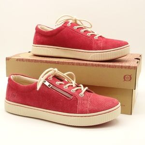 NWT BORN Tamara Red Suede Leather Sneaker